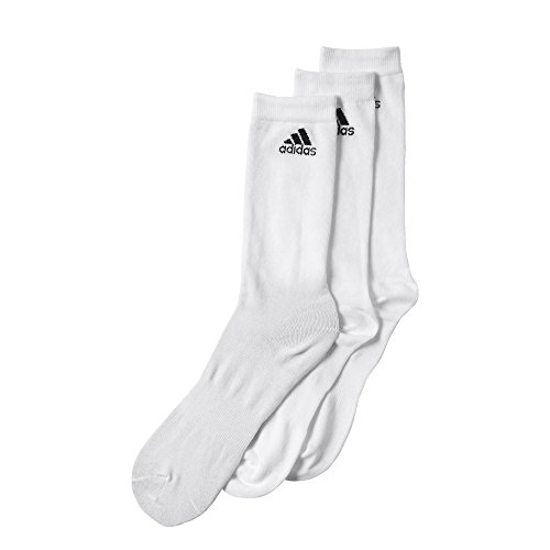 Adidas calze per Crew T 3PP, Unisex, Trainingssocken Performance dünne Crew 3 Paar, bianco, 23-26