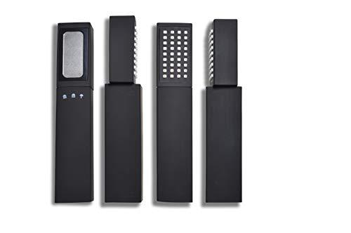 Sivoss ECO 120 Onyx wassersparende Stabduschkopf - MARKTNEUHEIT: Drehbarer Kopf ermöglicht 3 Strahlarten: Wassersparhochdruckstrahl, Normalstrahl & Intimstrahl! Aus Ihrer Dusche wird ein Mini-Spa!