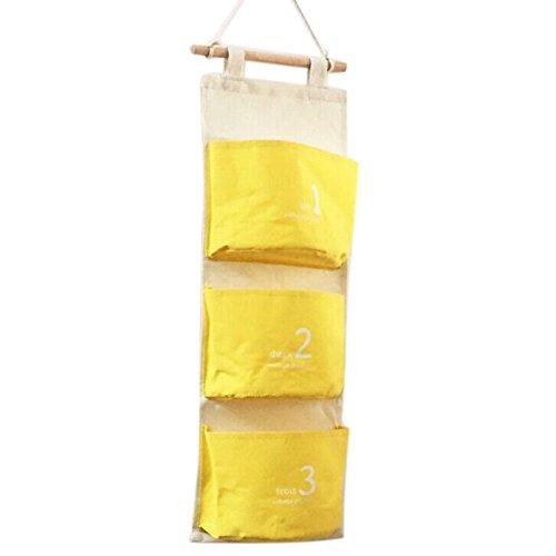 Highdas Tür Wandbehang 3 Taschen Platz sparende hängende Regale Aufbewahrungstasche Gadget-Beutel-Organisator-Beutel-faltbare Wand Tasche Hängewandregal Organizer 59 * 20CM