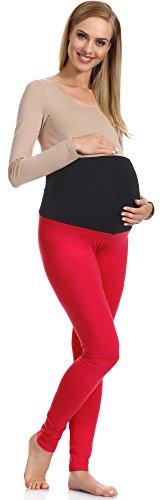 Be Mammy Damen Umstandsleggings 70 (Rot, XL)