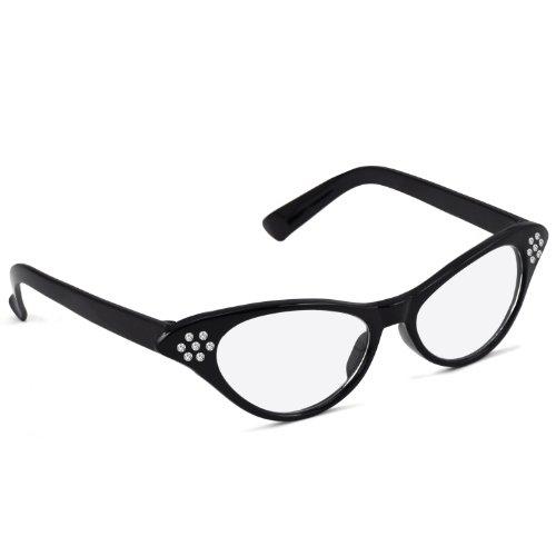 Trixes Retro-Brille für Damen der 1950er Jahre Pink Lady eckige Vintagebrille für Karneval