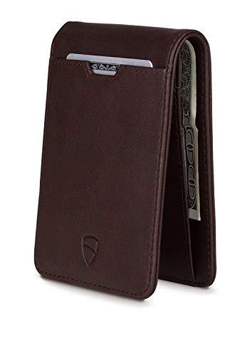 Vaultskin MANHATTAN Slim Bifold Wallet mit RFID Schutz für Karten und Bargeld One Size braun -