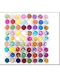 Xichen® 72PC glitter polvere di stelle per nail art su unghie in polvere, punte decorazione miscelatore con una pluralità di tipi