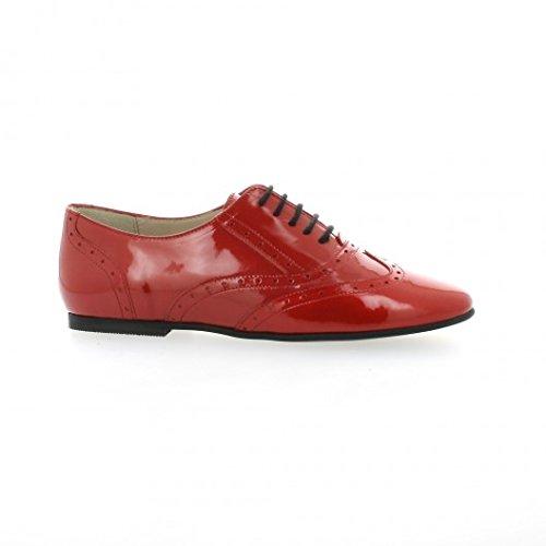 Vidi studio Derby cuir vernis rouge Rouge