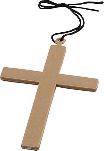 stüm Zubehör Religiöse Nonne Vikar Priester Klerus Mönchsrobe Kreuz Gold (Vikar Kostüm)