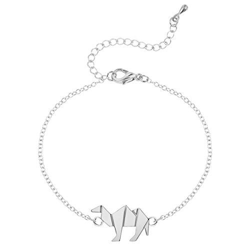 Tier Kamel Armband-Anhänger Armband Punk-Legierung Für Frauen,Silver-M (Tier-stulpe-armband)