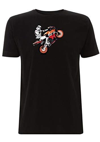 CBR 1000RR Fireblade Stormtrooper T Shirt Repsol Superbike IOMTT Honda BSB  Race Star Wars (X Large, Black)