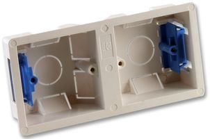 DRY LINING BOX, FLUSH MOUNT, 2G (1+1) 8582 By PRO ELEC Flush-mounting Box