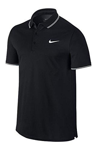 Nike Herren Poloshirt Court, Black/White, L