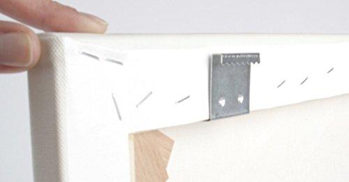Aufhänger für Keilrahmen, 16 mm Dicke. Zackenaufhänger für Leinwanddrucke, Holzrahmen. rostfreie...