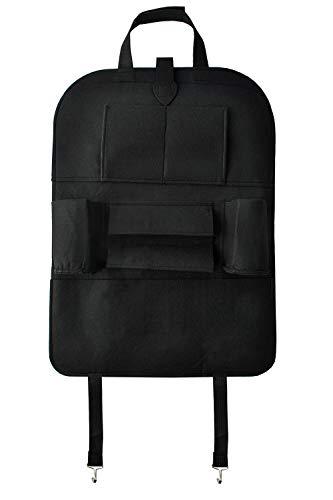 Organizer Rückenlehnenschutz Filz Schwarz für Kinder Aufbewahrung Tablet Flasche etc. 5758