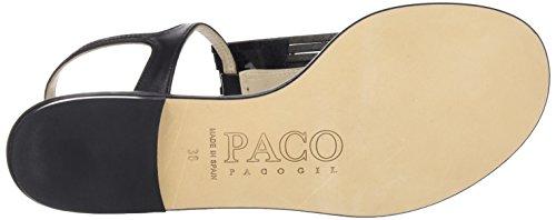 Paco Gil P3069, Sandales Bride arrière femme Noir - Noir