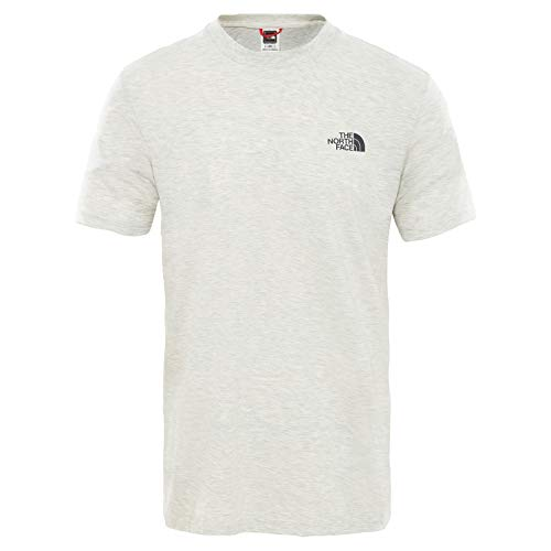 THE NORTH FACE Simple Dome T-Shirt à Manches Longues Homme, Wild Oat Heathr, FR : S (Taille Fabricant : S)