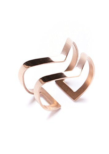 happiness-boutique-women-double-chevron-band-adjustable-ring-in-rose-gold-open-cuff-ring-titanium-wi