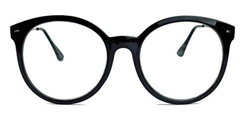Runde Nerd Brille im 50er 60er Vintage Look Streberbrille Pantobrille mit Metallbügel VN16...