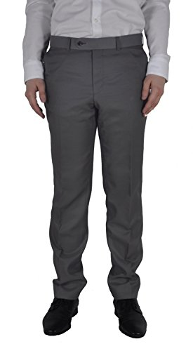 Michaelax-Fashion-Trade -  Pantaloni da abito  - Straight  - Basic - Uomo Grau (14)