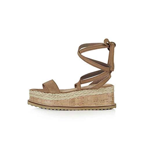 2019 Shoes Women Sandals Fashion Wedge Sandals Women Casual Platform Ladies Shoes Sandalias Summer Female Open Toe Flat Sandals Green 6.5