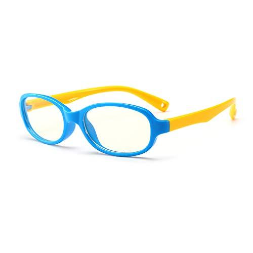 (Hibote Mädchen Jungen Anti Blaulicht Brillen - Silikon - Klare Linse Gläser Rahmen Geek/Nerd Brillen mit Auto Form Brillenetui - 18083001)