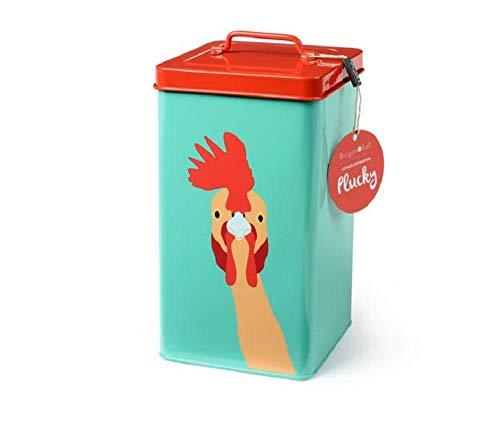 Burgon & Ball Creaturewares Boîte de Conservation de Nourriture pour Animaux domestiques Poulet Plucky