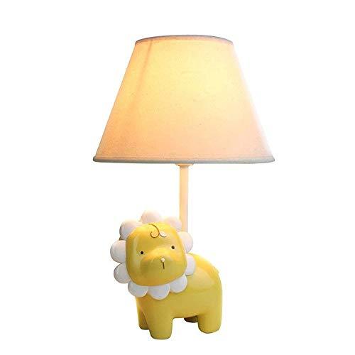 Godess4 Kreative Cartoon Persönlichkeit Yellow Lion E14 Warm Einstellbare Licht Lesen Dekoration Kinderzimmer Wohnzimmer Studie Thema Restaurant Schlafzimmer Nachttischlampe 19 * 33 Augen Schützen (Dekorationen Nautische Thema)