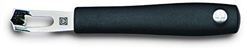 WÜSTHOF Silverpoint Apfelsinenschäler, Edelstahl, schwarz, 15 x 2.5 x 1.5 cm