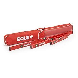 31d3LH113DL. SS300  - Nivel de Burbuja Sola Bigx 3er Juego Diferentes Longitudes In Der Bolsa Protectora con Metro - 30/60/100