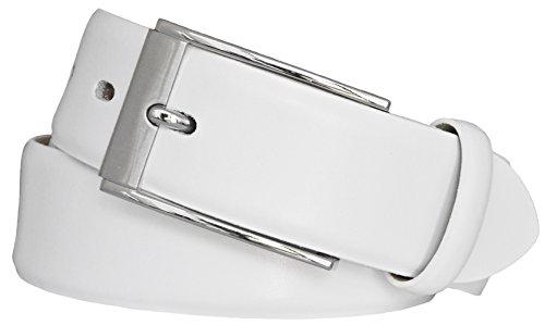 LLOYD Leder-Gürtel weiß, Länge:90 cm