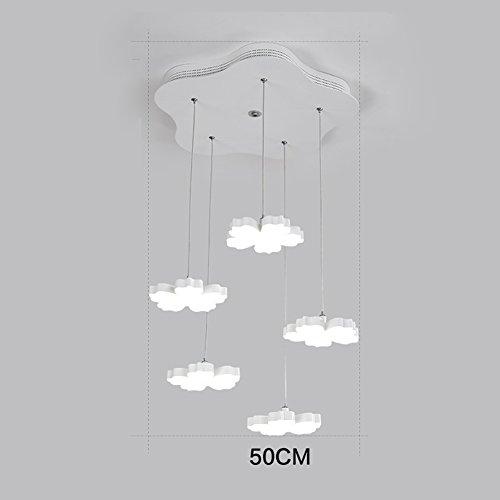 LXSEHN Moderner Minimalistischer Kreativer Schmiedeeisenpflaumenleuchter, Warmer Wohnzimmerschlafzimmerstudienrestaurant-Bartischleuchter Pendelleuchte Lampenlaternen (Farbe : Weißes Licht-5 lamp) (Park Licht Anhänger 5)