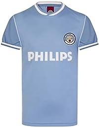 Manchester City FC - Camiseta de Primera equipación para Hombre - Temporada 1986 - Producto Oficial