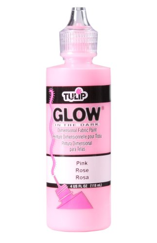 Tulip 3D Fabric Paint 4oz Glow (Pink) -
