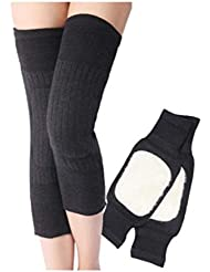 Ericotry Unisex Cashmere Woolen Blend Knee Brace Pads Support Protector Winter Warm Thermal leg Sleeves Warmers Kneecap for Women Men Outdoor Sports Cycling Climbing