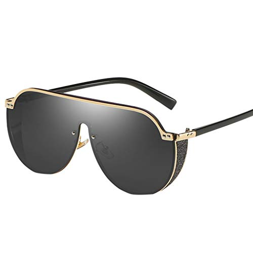QUINTRA Sonnenbrillen Unisex-Brillen Vintage-Stil Federscharnier Großer Rahmen Unregelmäßige Form Sonnenbrille