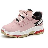 Vansney Mujer Chica Chunky Sneakers Estudiante PU Upper Ocio Zapatillas de Correr Zapatillas de Deporte Gimnasio Compras Caminar