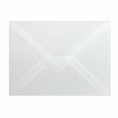 25 Mini Briefumschläge 60 x 90 mm 6 x 9 cm - Transparent - 90 g/m² - Dreieckslasche (Visitenkarten-umschlag)