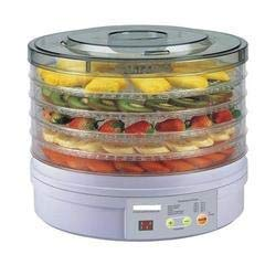 CANTROL Smart Transparent Plastic Countertop Portable Electric Food Fruit Dehydrator Machine with 5 Tray Adjustable Thermostat, 11x11x7.5 Inch