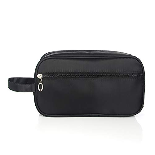 Ouken Travel Toiletry Bag or Small Waterproof Makeup Storage Bags for Men and Women (Black) 1PC
