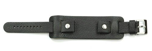heavy-black-leather-military-chunky-cuff-watch-strap-20mm
