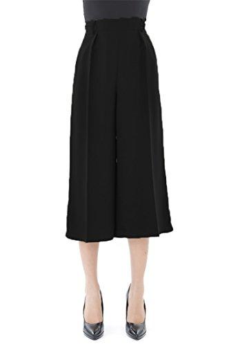 Sandro Ferrone pantalone 7/8 con piega C53 ARTIDE AI17 color nero in poliestere