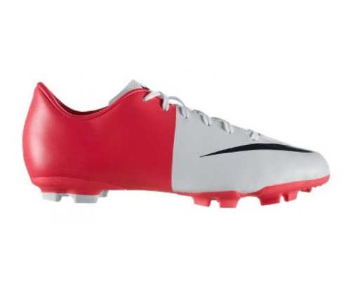 C1732 scarpa calcio bimbo NIKE JR MERCURIAL VICTORY III FG football shoe kid bianco/rosso solare