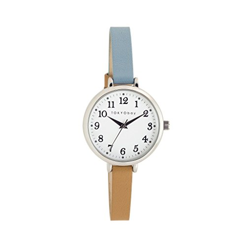 tokyobay-t523-tq-da-donna-bicolore-in-pelle-band-quadrante-bianco-smart-watch
