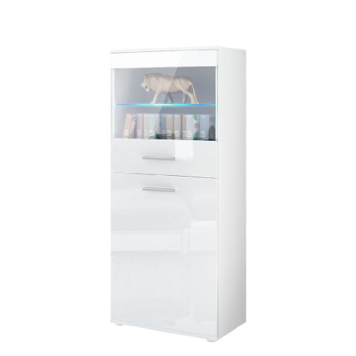 Great White Gloss Bookcase