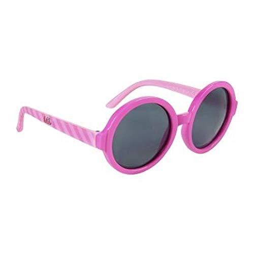 L.O.L. Surprise ! Gafas De Sol Para Niñas | Gran Idea De Regalo Para Niños | De Las Muñecas De Confetti Pop Cat-eye Para El Verano |100% Protección UV (Redondo rosa)