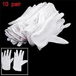 10 par negro de rayas blancas antideslizante anti-guantes antiestáticos XS