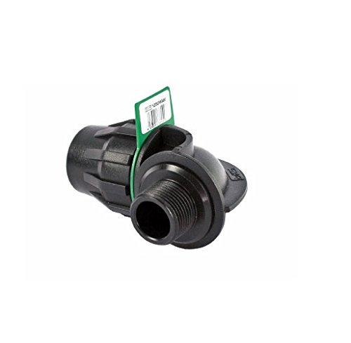 SYR Brico Fitting – Coude 90 ° Filetage mâle, 10 x 7 x 7 cm, Couleur Noir