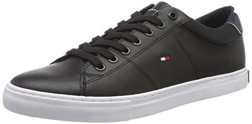 Tommy Hilfiger Herren Essential Leather Collar Vulc Sneaker, Schwarz (Black Bds), 43 EU -