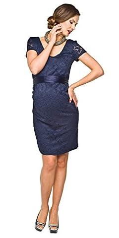 Elegantes und bequemes Umstandskleid, Brautkleid, Hochzeitskleid für Schwangere Modell: Lace, dunkelblau, L