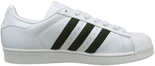 adidas Herren Superstar Gymnastikschuhe Elfenbein (Crystal White S16/collegiate Green/core Black)
