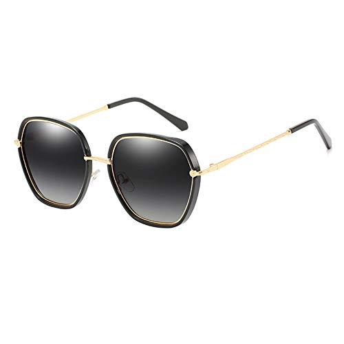 LEIAZ Polarisierte Fahren Sonnenbrillen Sport im Freien Eyewear Unzerbrechlich Spring Scharnier Ultra-Light Schwarzer Rahmen HD Objektiv