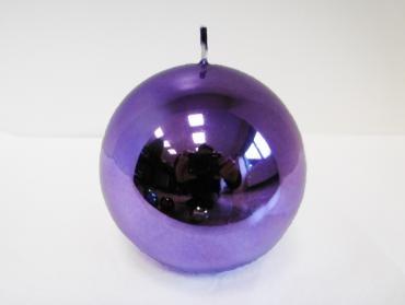 Bougie Metallica Violet Sphère mm. 100 Color Purple