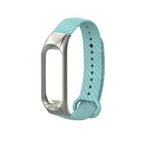 Beisoug Armband Ersatz Silikonband Armbandarmband + Rahmen für Xiaomi Mi Band 3
